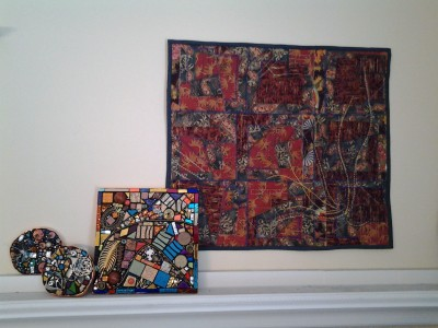 Mixed Media Mosaic with quilt